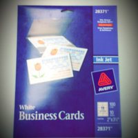 AVERY Ink Jet Printer Business Cards uploaded by April H.