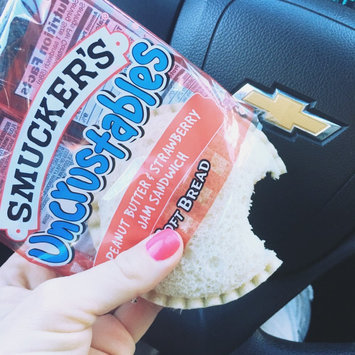 Smucker's Uncrustables Peanut Butter & Strawberry Jam Sandwich uploaded by Trisha L.