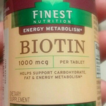 Finest Nutrition Biotin 1000 mcg Dietary Supplement Tablets uploaded by Nalia R.