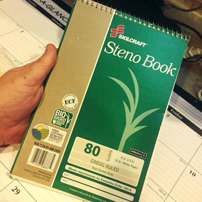 Skilcraft Wirebound Steno Notebook - 80 Sheet - 16.00 Lb - Gregg Ruled - 6 X 9 - 6 / Pack - White Paper (nsn-6002030) uploaded by Sue B.
