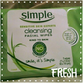Photo of Simple Oil Balancing Cleansing Wipes uploaded by Irene R.