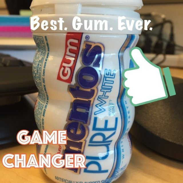 Mentos Gum Pure White Sugarfree Chewing Gum, Sweet Mint, 6 Pack, 300 ea uploaded by Darla M.