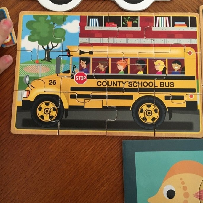 Melissa Doug Melissa & Doug Wooden Jigsaw Puzzles in a Box - Vehicles uploaded by Mary R.