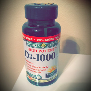 Photo of Nature's Bounty High Potency D3-1000IU Softgels - 250 CT uploaded by Megan S.
