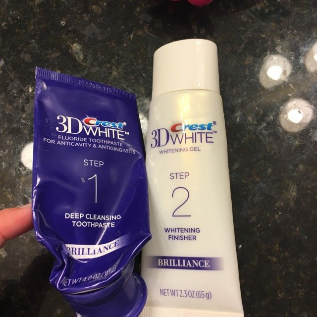 3D White Crest 3D White Brilliance Daily Cleansing Toothpaste and Whitening Gel System 1 Tube 4.0oz and 1 Tube 2.3oz