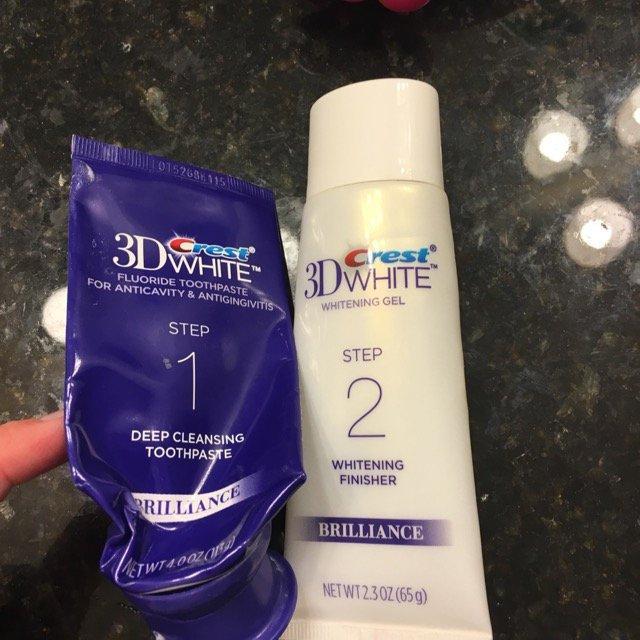 Crest 3D White Brilliance 2 Step Toothpaste