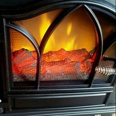 ChimneyFree Electric Infrared Quartz Stove Heater, 5,200 BTU, Black Metal uploaded by Amber M.