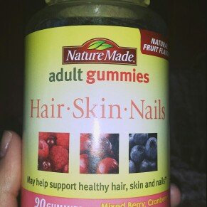Photo of Nature Made Adult Gummies Hair-Skin-Nails Mixed Berry Cranberry & Blueberry 90 Gummies uploaded by karoly A.