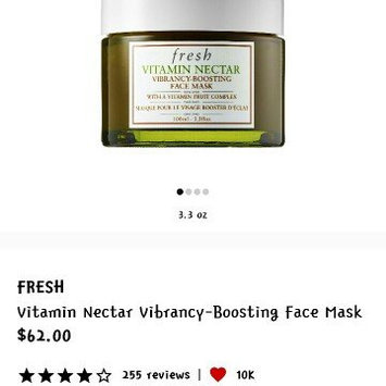 Fresh Vitamin Nectar Vibrancy-Boosting Face Mask 3.3 oz uploaded by Lynette B.