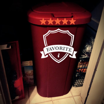 Photo of Hefty Touch Lid 13.3 Gallon Trash Can, Red uploaded by Denise B.