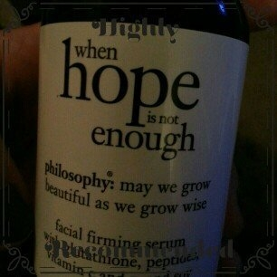 philosophy when hope is not enough facial firming serum uploaded by kell s.