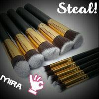 BESTOPE 10PCs Premium Synthetic Kabuki Makeup Brushes Set Cosmetics Foundation Blending Blush Eyeliner Face Powder Brush Makeup Brushes Kit [10PCS Black+G uploaded by Mili Rani R.