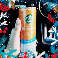 Starbucks® Refreshers® Peach Passion Fruit with Coconut Water Energy Beverage 12 fl. oz. Can uploaded by Laurene Q.