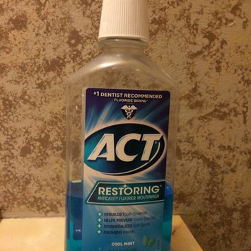 ACT Restoring Anticavity Fluoride Mouthwash Mint uploaded by Jessica I.