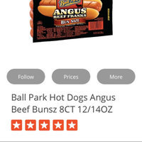 Ball Park Hot Dogs Angus Beef Bunsz 8CT 12/14OZ uploaded by Amela A.