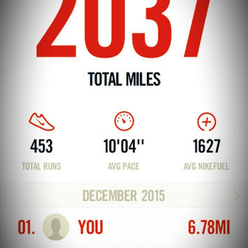 Photo of Nike Running App uploaded by Carrie O.