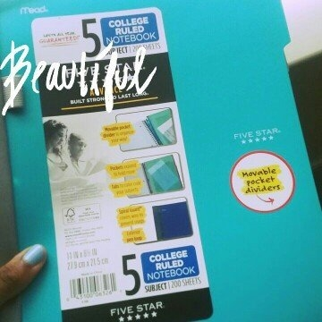 Mead Five Star Notebook - 200 Page - College Ruled - 1 Each Assorted Cover (mea-06326) uploaded by Michiah T.