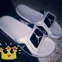 Nike Jordan Men's Jordan Hydro 4 Sandal [Cool Grey/White-University Blue, 13 D(M) US] uploaded by Ayoub N.