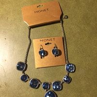 Monet Silver-Tone Blue Glass Stone Y Necklace uploaded by Christine K.