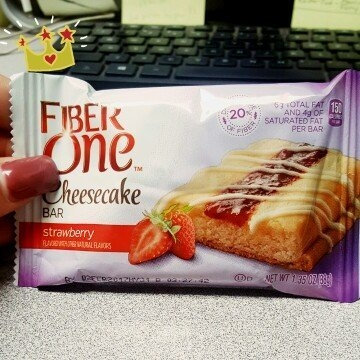 Fiber One Cheesecake Bar Strawberry uploaded by Courtney P.