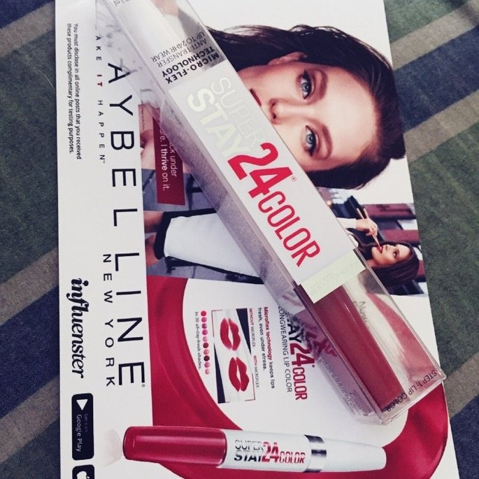 Maybelline Super Stay 24hr Ultimate Red Duo Lips - Amber Allure uploaded by Denise G.