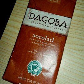 Photo of Dagoba Xocolatl Organic Rich Dark Chocolate, Chilies & Nibs uploaded by Melissa A.