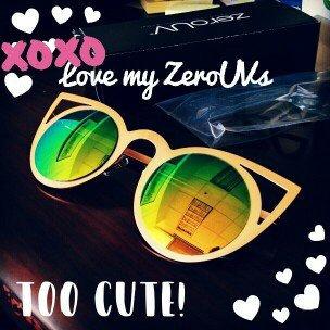 Triple Optic zeroUV - Large Oversized Thin Frame Lovely Heart Shaped Womens Fashion Sunglasses [] uploaded by Toni F.