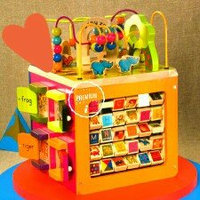 B. toys B. Zany Zoo Wooden Activity Cube uploaded by Autumn L.