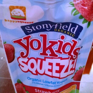 Photo of Stonyfield Organic YoKids Squeeze! Organic Strawberry Yogurt StrAWESOME uploaded by catherine g.