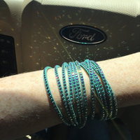 Swarovski® Light Green Alcantara® Aurore Boreale Crystals Slake Bracelet uploaded by Allison L.