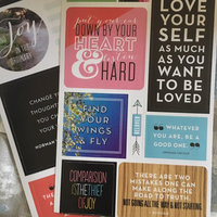 Me & My Big Ideas Pocket Pages Clear Stickers 6 Sheets/Pkg-Love Yourself uploaded by April W.
