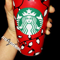 Red Holiday Cup Tumbler, 12 fl oz Starbucks Drinkware uploaded by Jessica H.