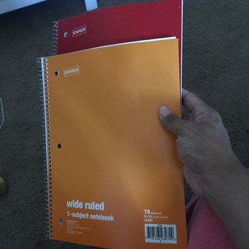 Staples 1 Subject Spiral Notebook, Wide Rule, Assorted Colors (Pack of 10) uploaded by Diana P.