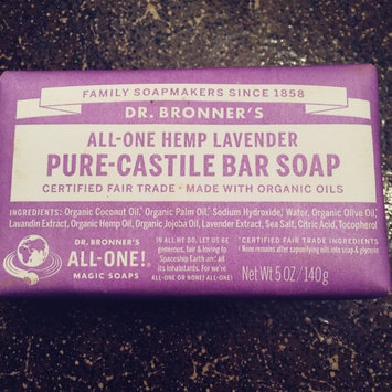 Photo of Dr. Bronner's All-One Hemp Lavender Pure - Castile Bar Soap uploaded by Ivis A.