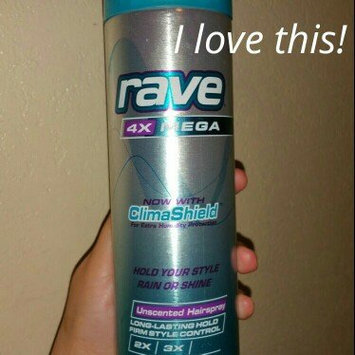 Photo of Rave 4X Mega Unscented Hairspray With ClimaShield uploaded by Piedad G.