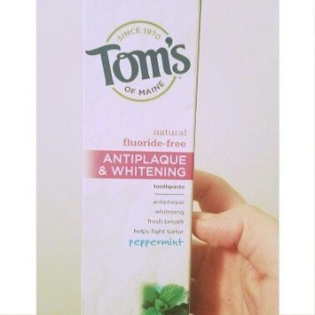 Tom's of Maine Fluoride-Free Antiplaque & Whitening Toothpaste uploaded by Heather R.