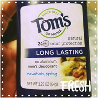 Tom's OF MAINE Mountain Spring Men's Long Lasting Wide Stick Deodorant uploaded by Nicole B.