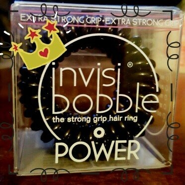 Invisibobble The Strong Grip Hair Ring True Black 3 strong grip hair rings uploaded by Crystal R.