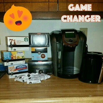Photo of Keurig - 2.0 K550 4-cup Coffeemaker - Black/dark Gray uploaded by Raych P.