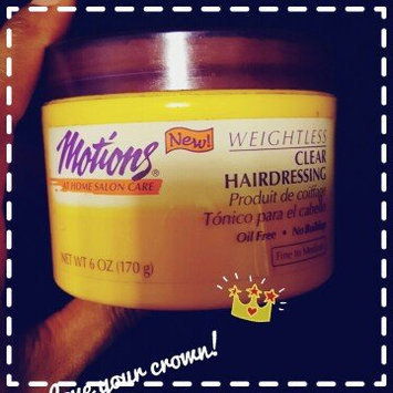 Photo of Motions Styling Aid Weightless Clear Hairdressing 6oz uploaded by Ishimina R.