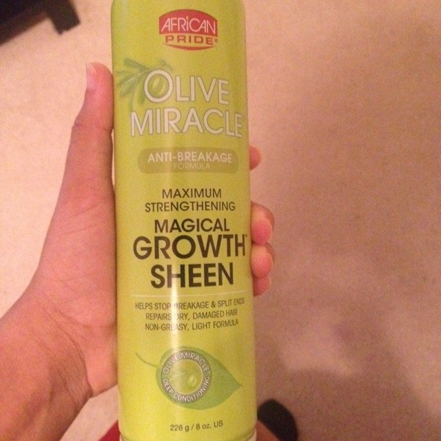 African Pride Olive Miracle Growth Sheen uploaded by Shemaiah D.