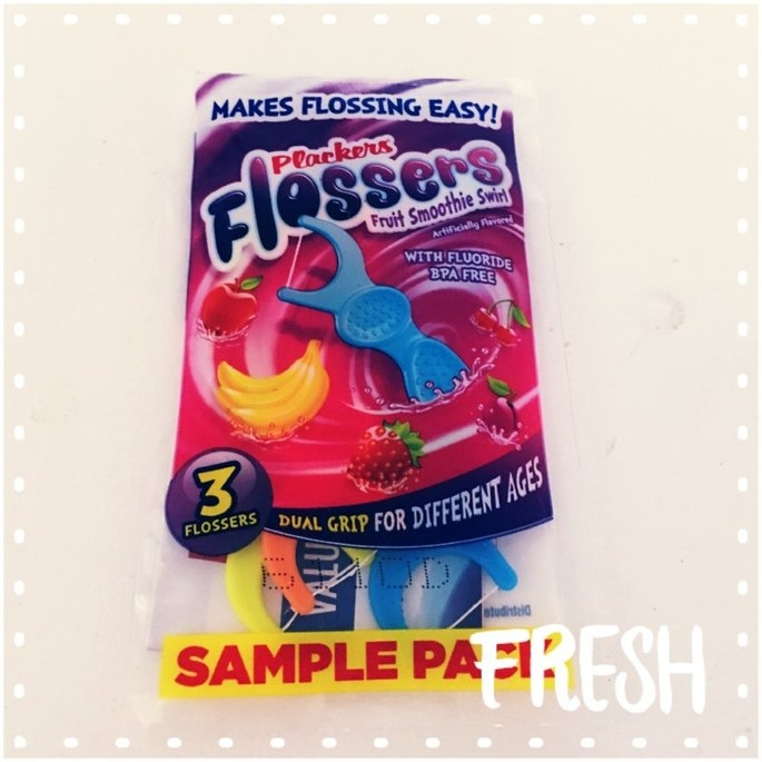 Plackers Dual Grip Fruit Smoothie Swirl Kid's Flossers uploaded by CrystalandRocky T.