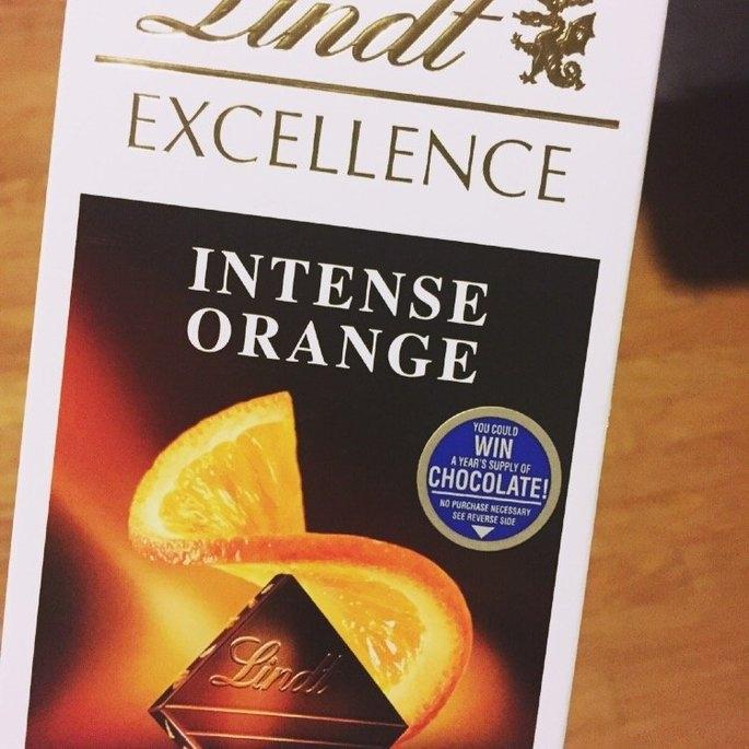 Lindt Excellence Intense Orange Dark Chocolate uploaded by Angela M.