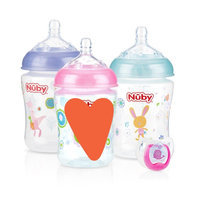 Nuby Nûby Natural Touch 3pk 9oz Printed Bottle with Comfort Pacifier - 0-6 uploaded by Suzanne S.