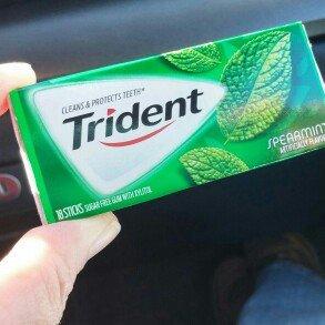Trident Spearmint Sugar Free Gum uploaded by Vickie R.