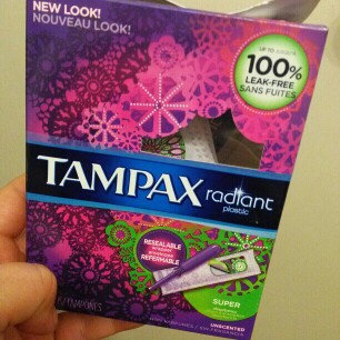 Photo of Tampax Radiant Plastic Super Absorbency Tampons uploaded by Valerie Hall 8.