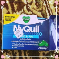 Vicks Nyquil Cold & Flu Relief LiquiCaps uploaded by Arwa M.