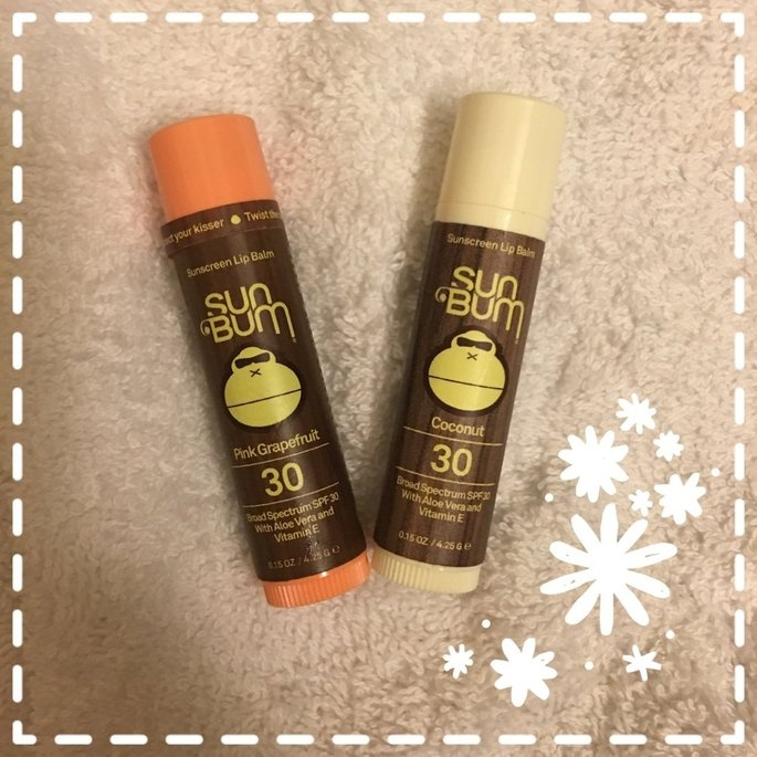 Sun Bum Sunscreen Lip Balm SPF 30, Pink Grapefruit, .15 oz uploaded by Ashley G.