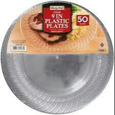 Photo of Daily Chef Clear Plastic Plates, 6.25
