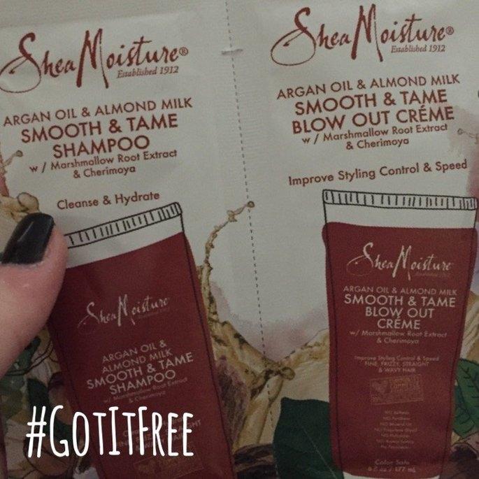 SheaMoisture Argan Oil & Almond Milk Smooth & Tame Shampoo uploaded by Schyler G.
